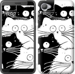Чехол на HTC Desire 12 Коты v2