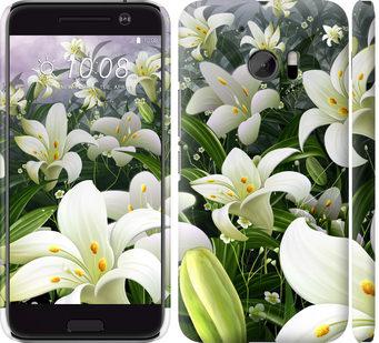 Чехол на HTC 10 Белые лилии