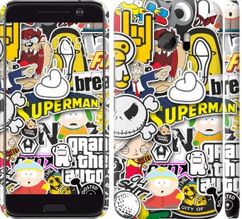 Чехол на HTC 10 Popular logos