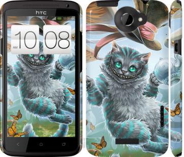 Чехол на HTC One X Чеширский кот 2