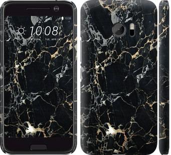 Чехол на HTC 10 Черный мрамор