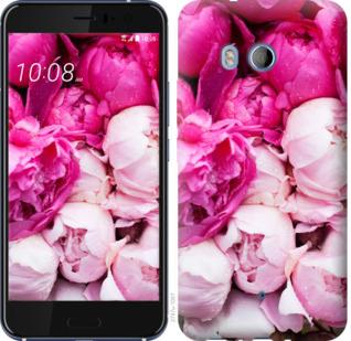 Чехол на HTC U11 Розовые пионы