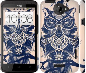 Чехол на HTC One X Узорчатая сова