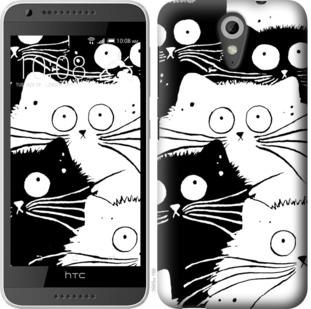 Чехол на HTC Desire 620G Коты v2