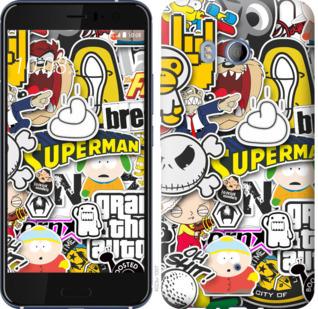 Чехол на HTC U11 Popular logos