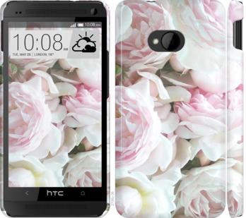 Чехол на HTC One M7 Пионы v2