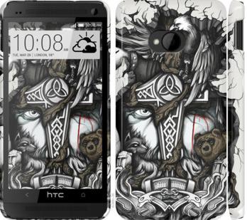 Чехол на HTC One M7 Тату Викинг