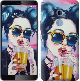 Чехол на HTC U11 Plus Арт-девушка в очках