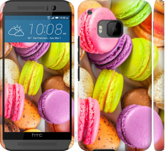 Чехол на HTC One M9 Макаруны