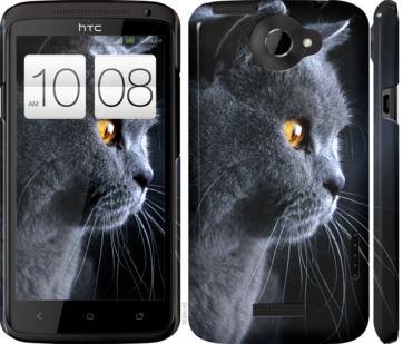 Чехол на HTC One X Красивый кот