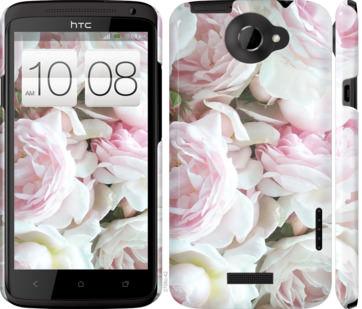 Чехол на HTC One X Пионы v2