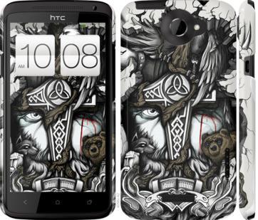 Чехол на HTC One X Тату Викинг