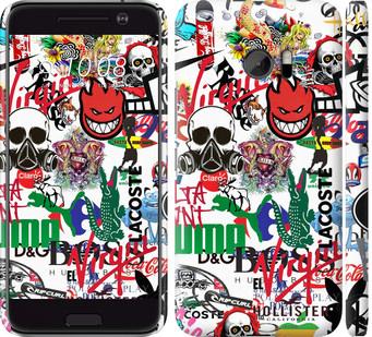 Чехол на HTC 10 Many different logos