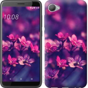 Чехол на HTC Desire 12 Пурпурные цветы