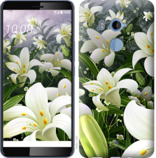 Чехол на HTC U11 Plus Белые лилии
