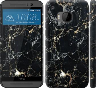 Чехол на HTC One M9 Черный мрамор