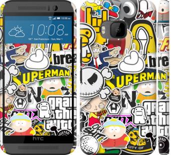 Чехол на HTC One M9 Popular logos