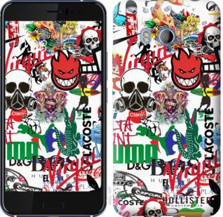 Чехол на HTC U11 Many different logos