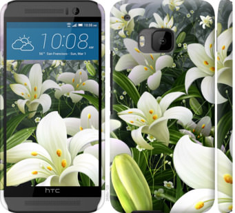 Чехол на HTC One M9 Белые лилии