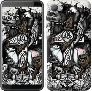 Чехол на HTC Desire 12 Тату Викинг