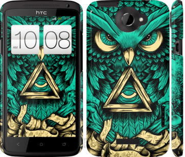 Чехол на HTC One X Сова Арт-тату
