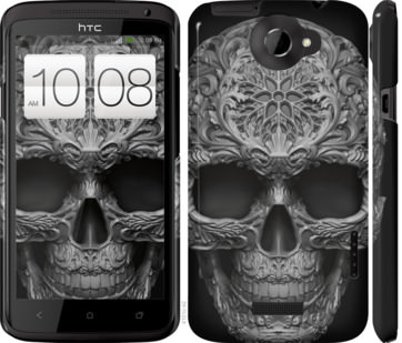 Чехол на HTC One X skull-ornament