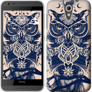 Чехол на HTC Desire 620G Узорчатая сова
