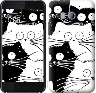 Чехол на HTC U11 Коты v2