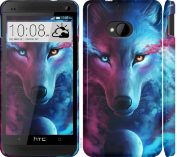 Чехол на HTC One M7 Арт-волк