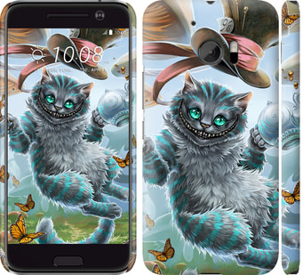 Чехол на HTC 10 Чеширский кот 2