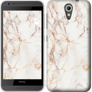 Чехол на HTC Desire 620G Белый мрамор