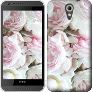 Чехол на HTC Desire 620G Пионы v2