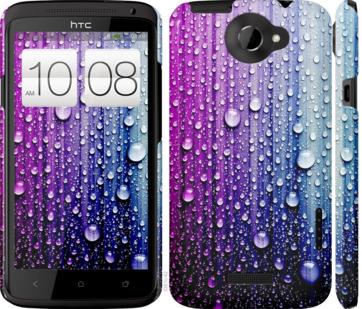 Чехол на HTC One X Капли воды