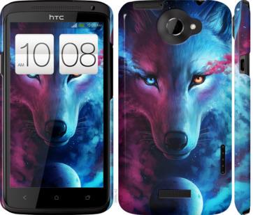 Чехол на HTC One X Арт-волк