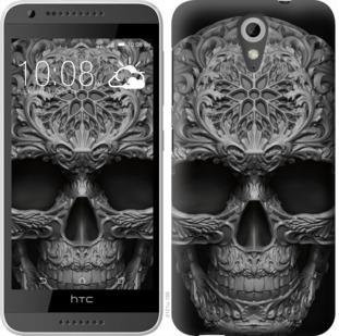 Чехол на HTC Desire 620G skull-ornament