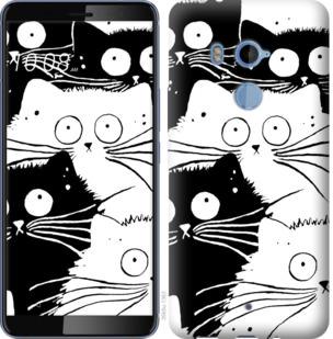 Чехол на HTC U11 Plus Коты v2