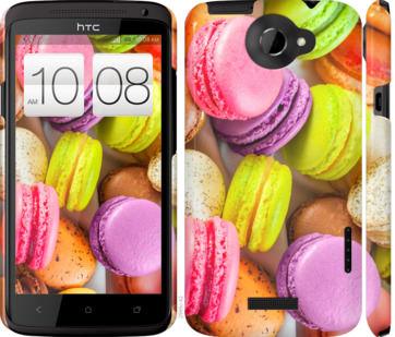 Чехол на HTC One X Макаруны