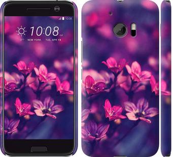 Чехол на HTC 10 Пурпурные цветы