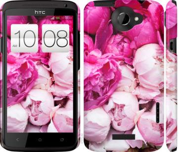 Чехол на HTC One X Розовые пионы