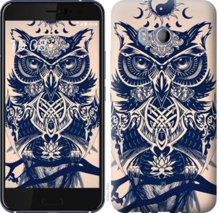 Чехол на HTC U11 Узорчатая сова