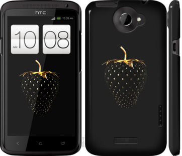 Чехол на HTC One X Черная клубника