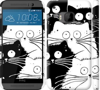 Чехол на HTC One M9 Коты v2