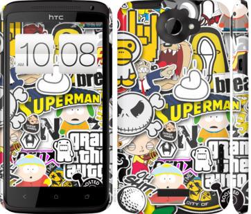 Чехол на HTC One X Popular logos