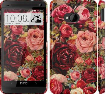 Чехол на HTC One M7 Цветущие розы