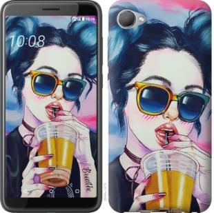 Чехол на HTC Desire 12 Арт-девушка в очках