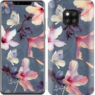 Чехол на Huawei Mate 20 Pro Нарисованные цветы