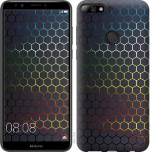 Чехол на Huawei Y7 Prime 2018 Переливающиеся соты