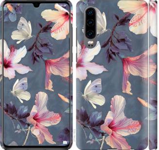 Чехол на Huawei P30 Нарисованные цветы