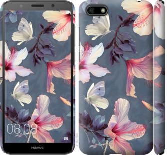 Чехол на Huawei Y5 2018 Нарисованные цветы