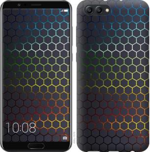 Чехол на Huawei Honor V10 / View 10 Переливающиеся соты